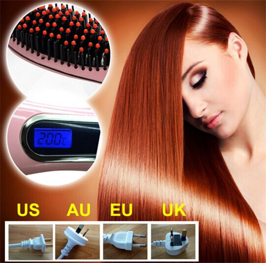 2015-New-Professional-Brush-Hair-Straightener-Comb