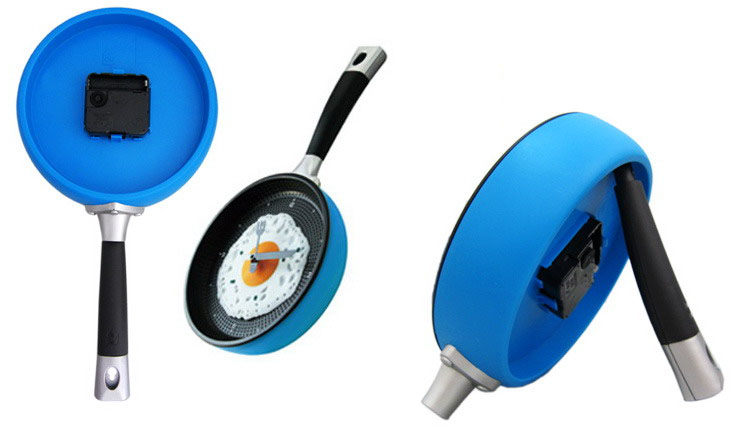 Frying Pan Clock back